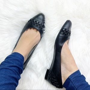 Cole Haan Maria Sharapova black leather flats